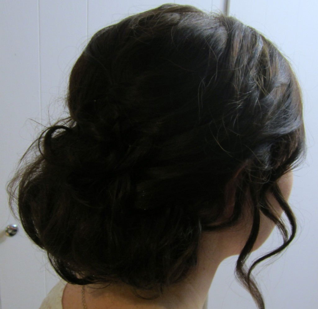 finished bridal hair