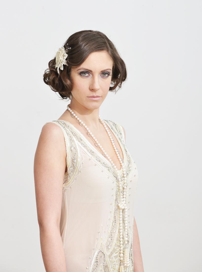 Great Gatsby inspired wedding hair