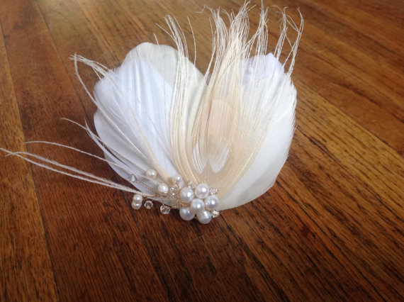 Pretty Wedding Feather Fascinators